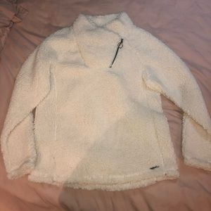 Mock turtle neck quarter zip Sherpa